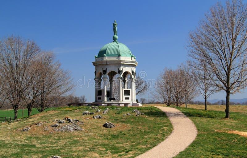 Maryland stan Monumentat Antietam zdjęcia royalty free