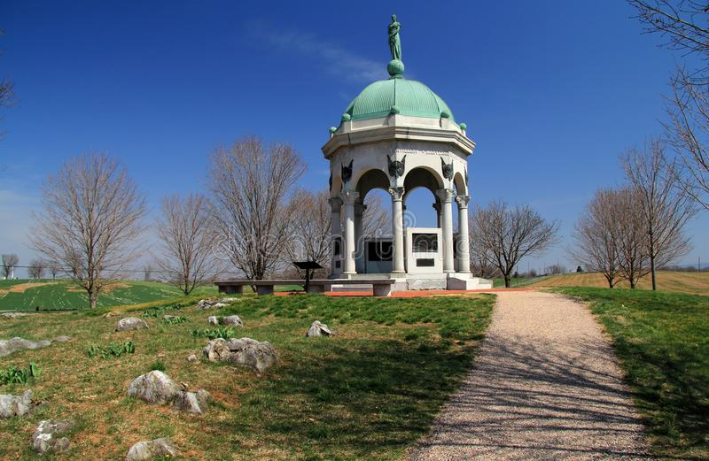 Maryland stan Monumentat Antietam obrazy stock