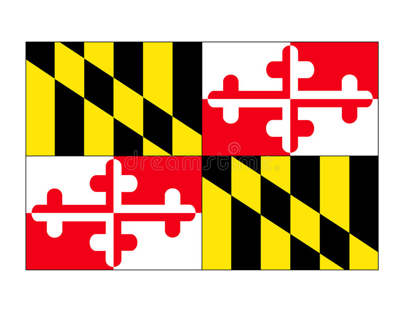 Maryland State Flag Vector. The state flag of Maryland created in Adobe Illustrator. Vector file available stock illustration