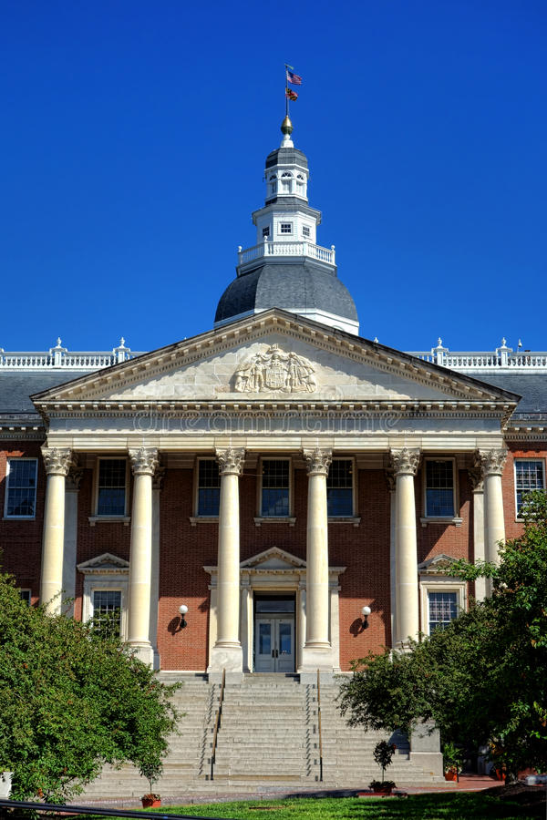 Maryland State House Capitol Building in Annapolis royalty free stock images