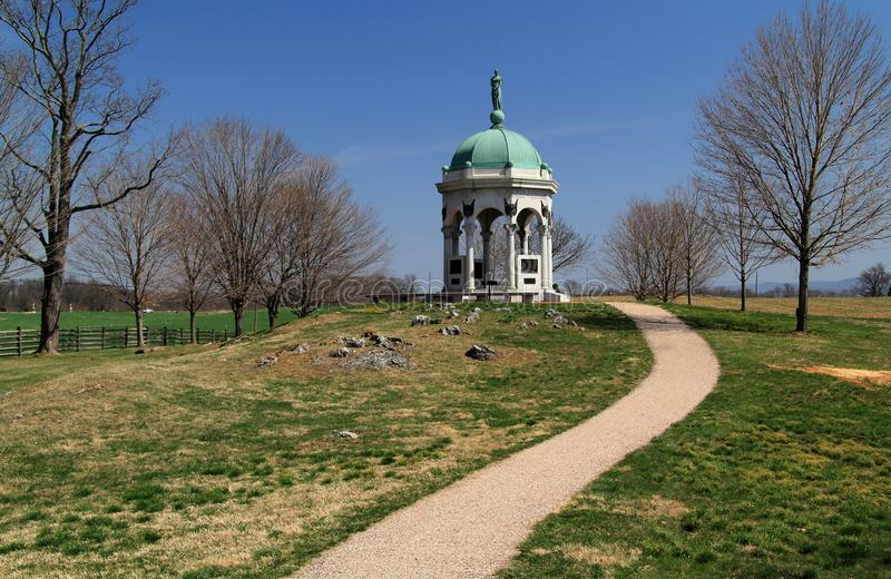 Maryland State Monumentat Antietam. Dedicated by President William McKinley on May 30, 1900, the Maryland Monument honors Confederate and Union soldiers who stock photo
