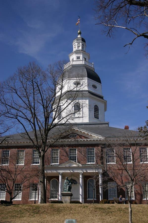 Maryland tillståndshus, Annapolis, medicine doktor royaltyfri foto
