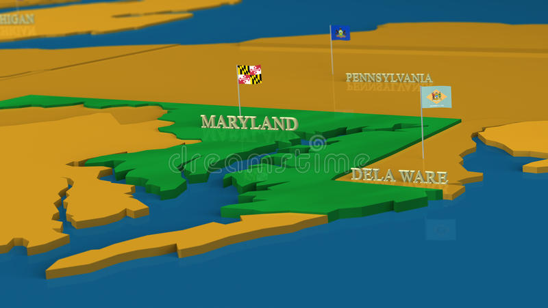 Download Maryland - United States Series With Flags Stock Illustration - Image: 18174063
