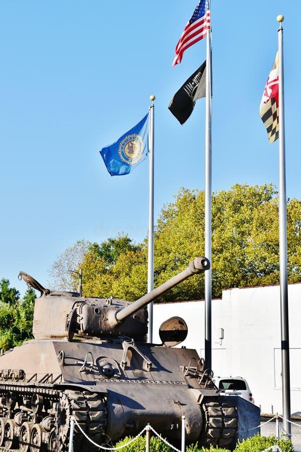 Maryland wir patton Behälter der amerikanischen Legion stockbild