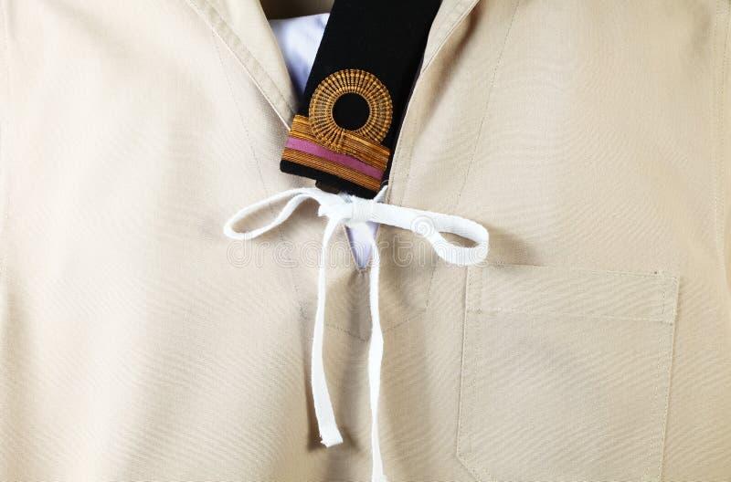 Marynarka wojenna harcerza mundur zdjęcie royalty free
