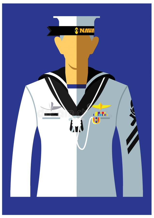 Marynarka wojenna mundur typ royalty ilustracja