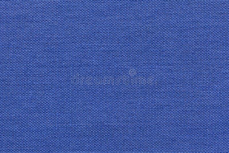 Marynarki wojennej błękita tło od tekstylnego materiału z łozinowym wzorem, zbliżenie zdjęcie stock