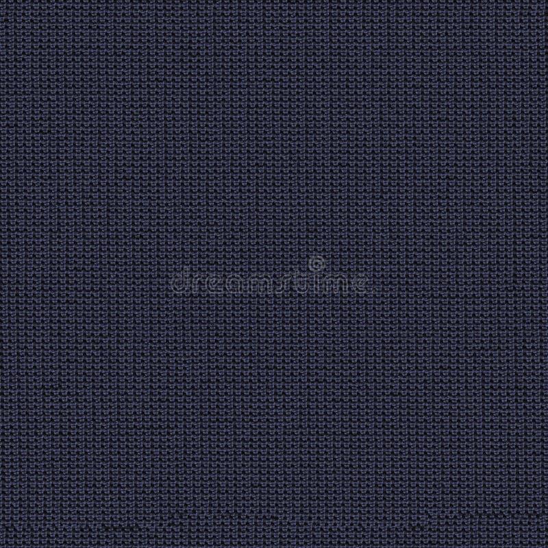 Marynarki wojennej błękita tkaniny bezszwowa tekstura Tekstury mapa dla 3d i 2d ilustracji