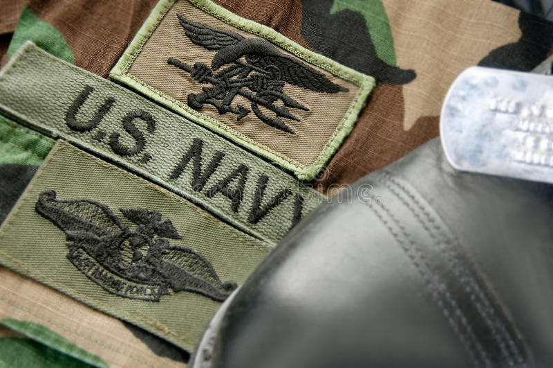 marynarki wojennej foki mundur zdjęcie stock