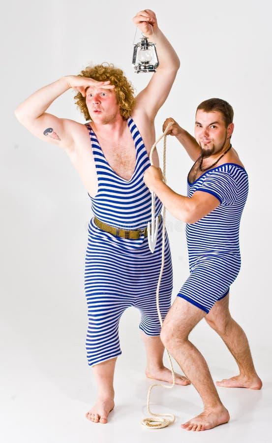 marynarzu dwóch chłopców zdjęcia royalty free