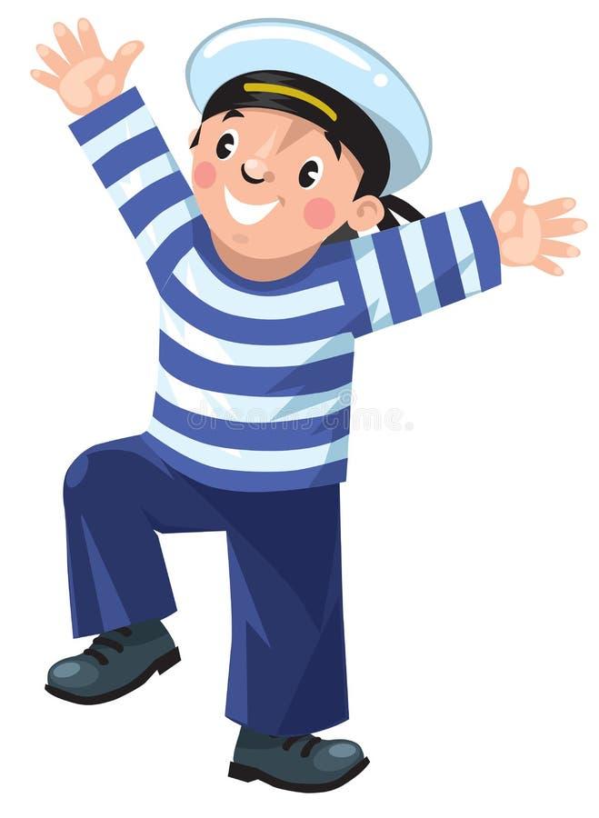marynarzu szczęśliwy ilustracji