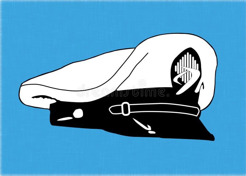 marynarzu zawodowe kapelusza ilustracja wektor