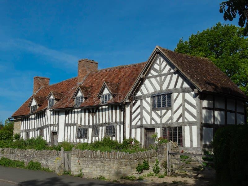 Marys Ardenss hus & lantgård arkivfoto