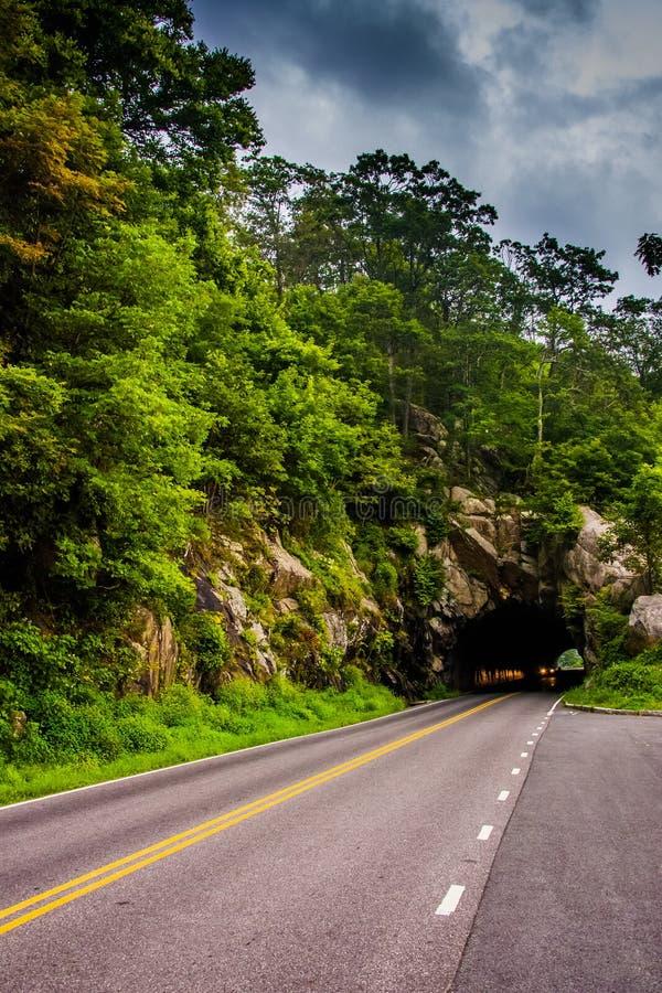 Marys Felsen-Tunnel, auf Skyline-Antrieb in Nationalpark Shenandoah lizenzfreie stockfotos