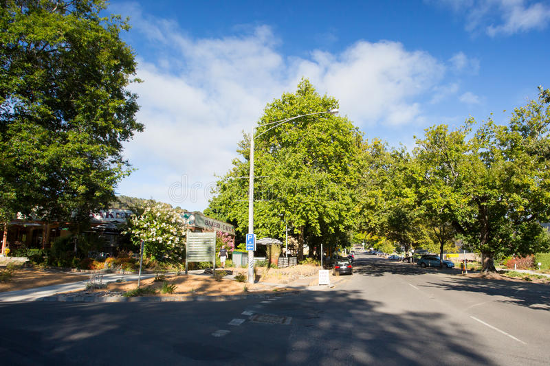 Marysville. AUSTRALIA - FEB 28: The quaint country town of  on a summer's morning in Victoria, Australia royalty free stock photos