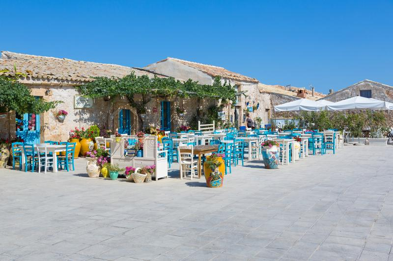 MARZAMEMI. Sicily, Italy - The fishing village of  is in the deep south-east of Sicily, one of prettiest seaside villages in Italy royalty free stock photo