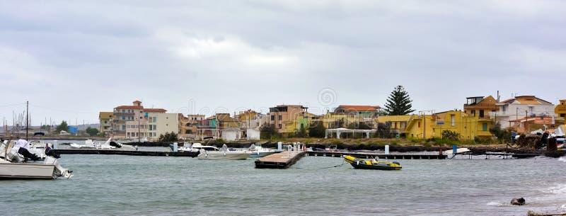 Marzamemi village siracusa. Foreshortening in marzamemi Sicily Italy royalty free stock photography