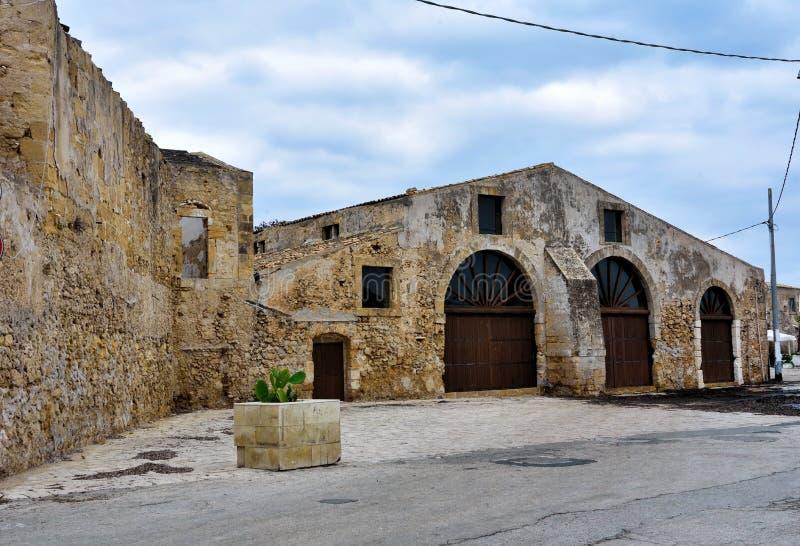 Marzamemi village siracusa. Glimpse of marzamemi and the tonnara Sicily italy royalty free stock photo
