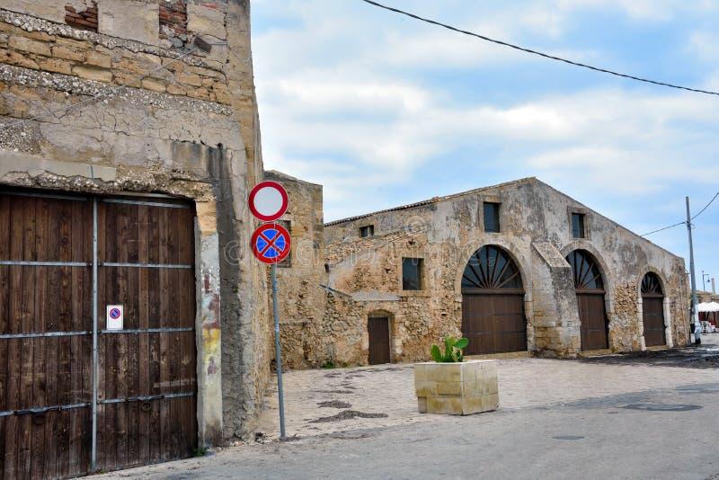 Marzamemi village siracusa. Glimpse of marzamemi and the tonnara Sicily italy stock photo