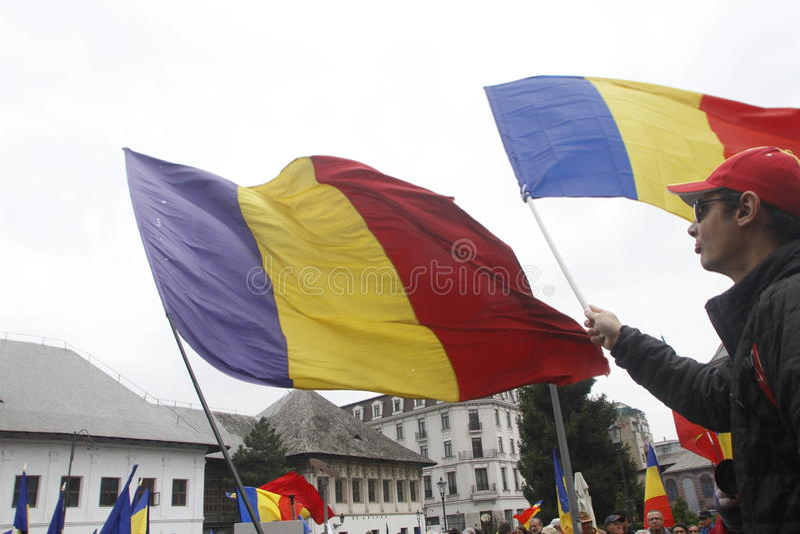 Marzec dla zjednoczenia Rumunia z republiką Moldova fotografia royalty free