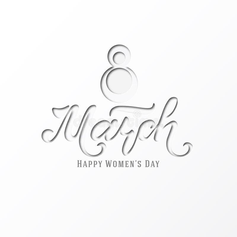 Marzec 8 pocztówka dzień kobiety s Papieru rżnięty wakacyjny tło literowanie Projekta modny szablon szczęśliwa dzień matka s wekt ilustracja wektor