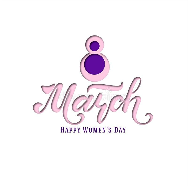 Marzec 8 pocztówka dzień kobiety s Papieru rżnięty wakacyjny tło literowanie Projekta modny szablon szczęśliwa dzień matka s wekt ilustracji