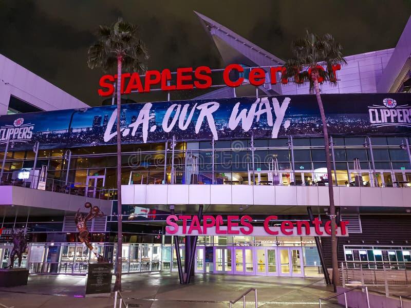 Marzec 18, 2019 Staples Center Los Angeles, LOS ANGELES -, usa - zdjęcie royalty free
