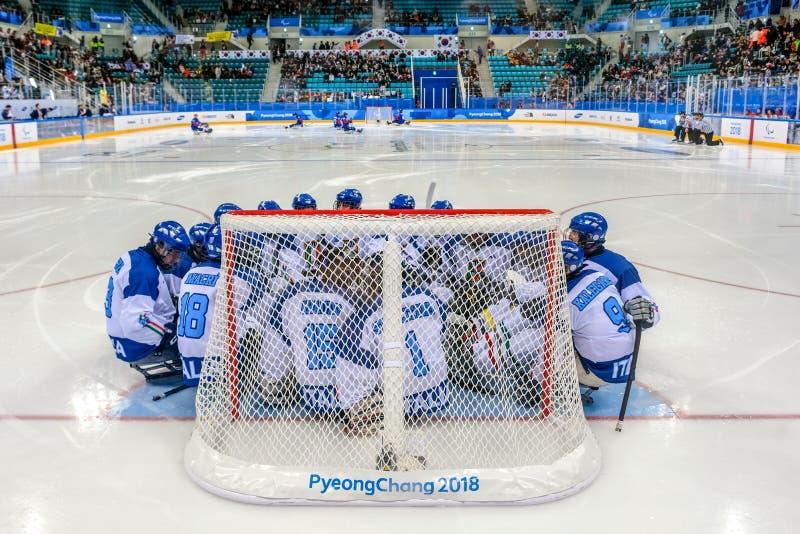 2018 Marzec 12th Peyongchang Paralympic 2018 gry w Południowym Kore fotografia royalty free
