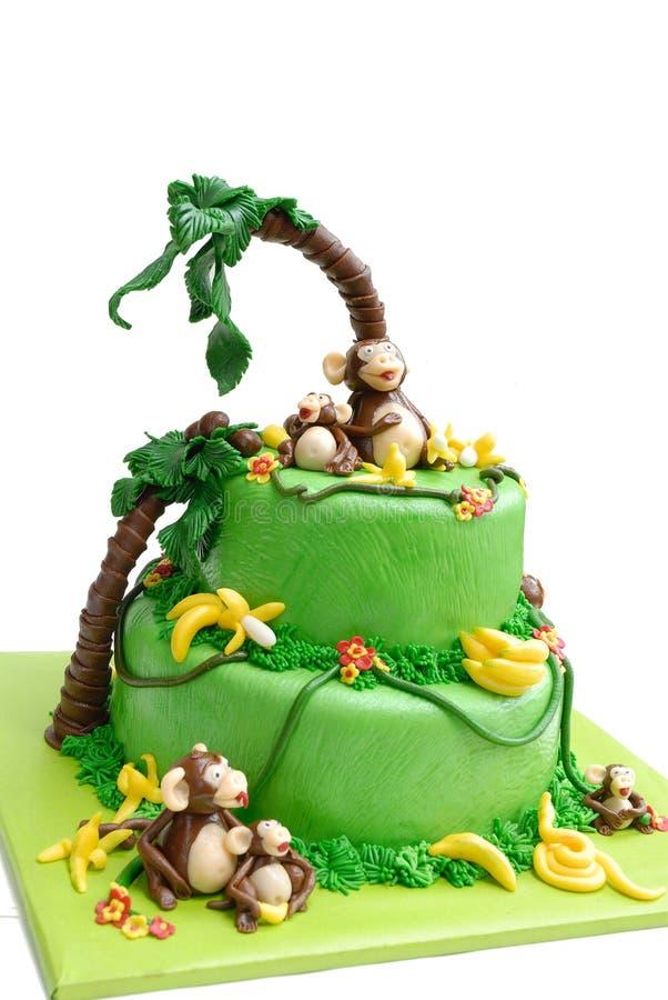 Marzipan cake stock photography