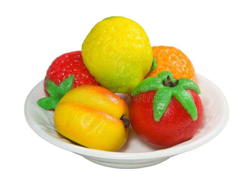 Marzipan-Frucht stockfotos