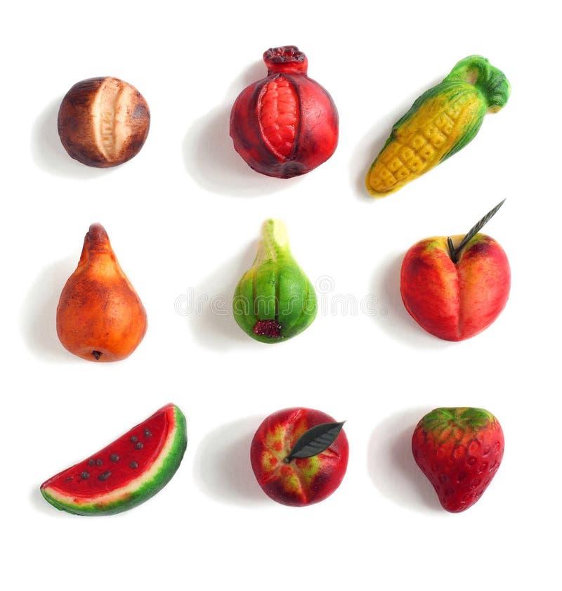 Marzipan fruit royalty free stock photography