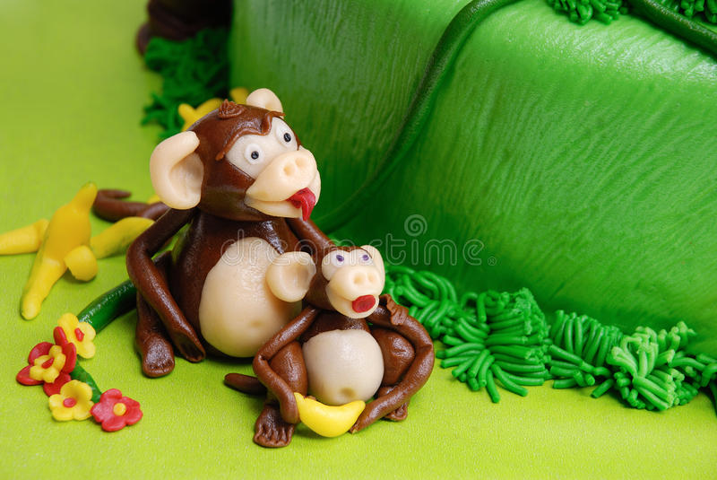 Marzipan monkey royalty free stock photos