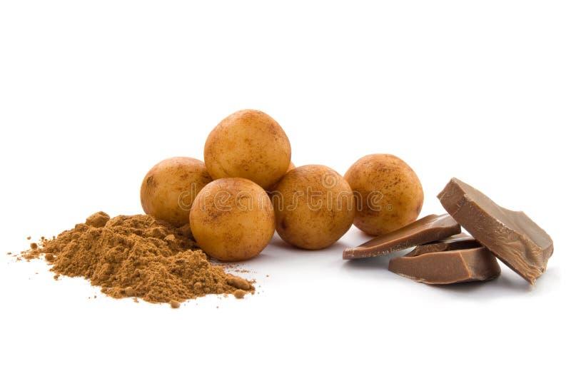 Marzipan potatoes stock photo