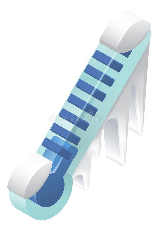 Marznięcia zimna termometr ilustracji