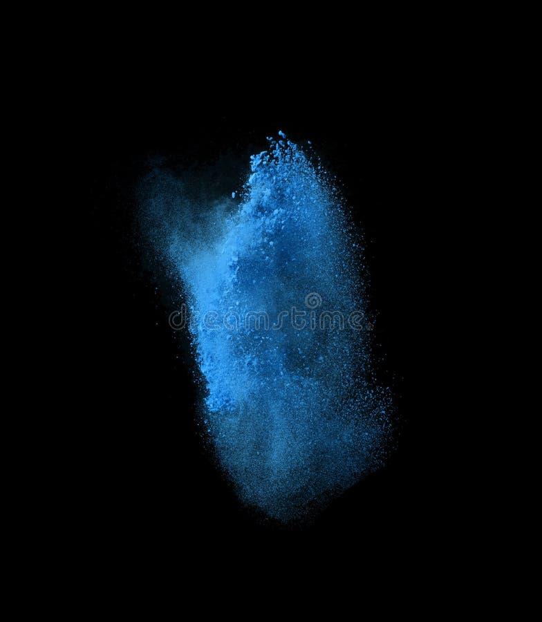 Marznie ruch błękita prochowy wybuchać, odizolowywającego ilustracji