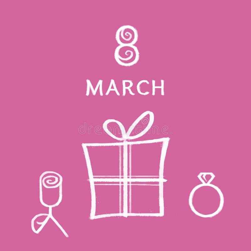 8 marzo royalty illustrazione gratis