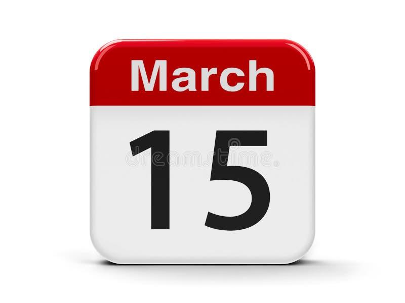 15 marzo illustrazione vettoriale