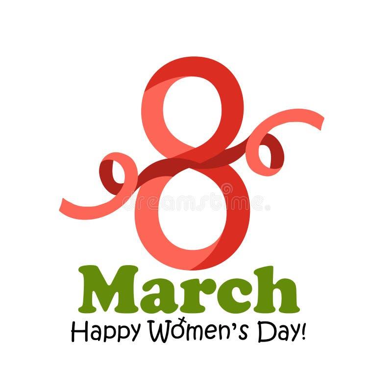 8 marzo cartolina d'auguri del giorno del ` s delle donne - vector l'illustrazione illustrazione vettoriale
