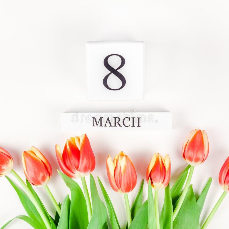 8 marzo cartolina d'auguri di Giornata internazionale della donna fotografie stock libere da diritti
