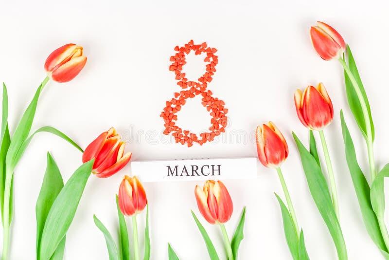 8 marzo cartolina d'auguri di Giornata internazionale della donna fotografia stock
