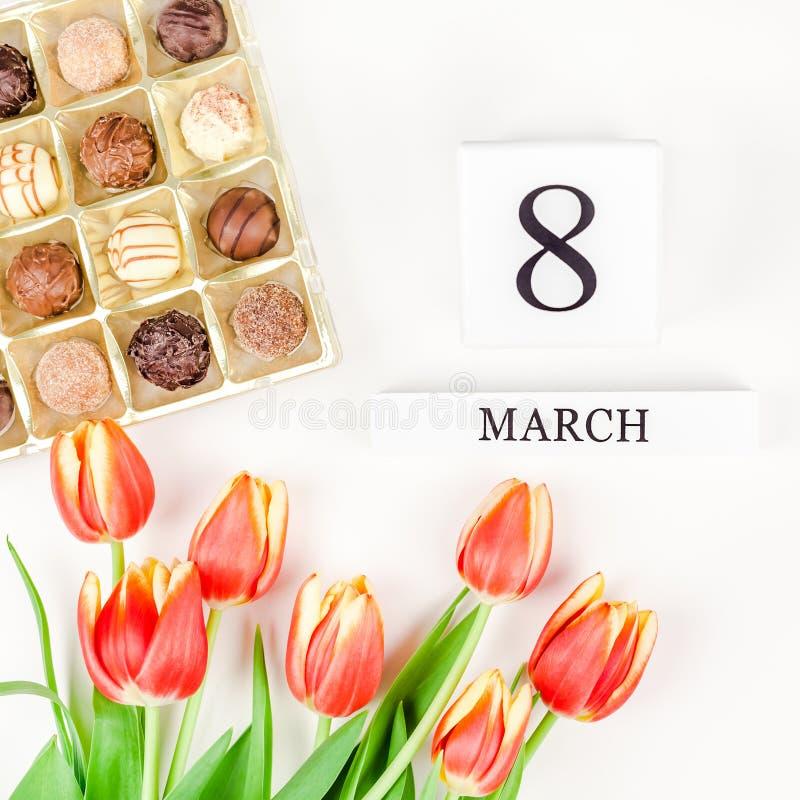 8 marzo cartolina d'auguri di Giornata internazionale della donna immagini stock