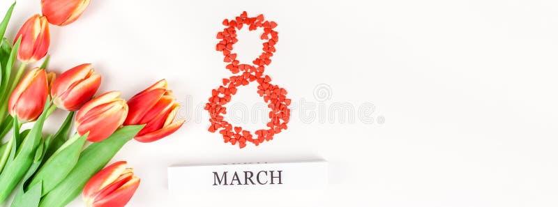 8 marzo cartolina d'auguri di Giornata internazionale della donna fotografia stock libera da diritti