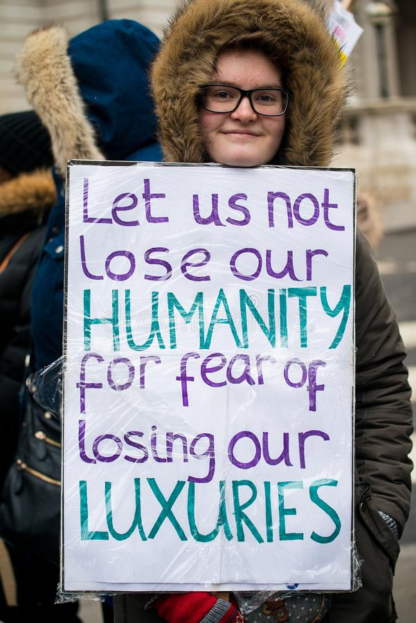Marzo contra la demostración nacional del racismo - Londres - Reino Unido imagen de archivo libre de regalías