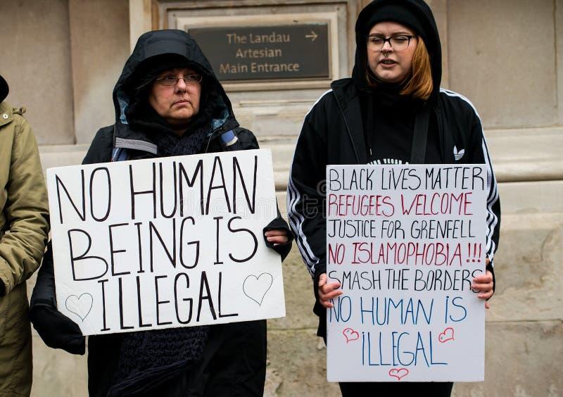 Marzo contra la demostración nacional del racismo - Londres - Reino Unido fotografía de archivo