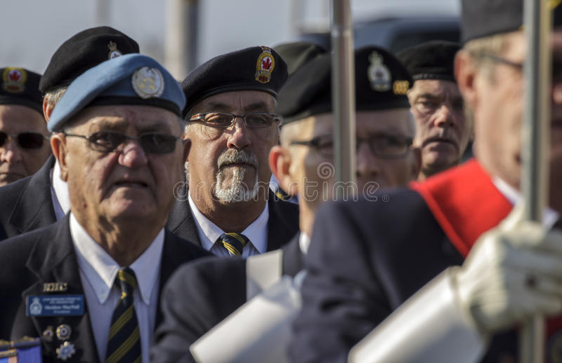 Marzo del veterano fotografia stock