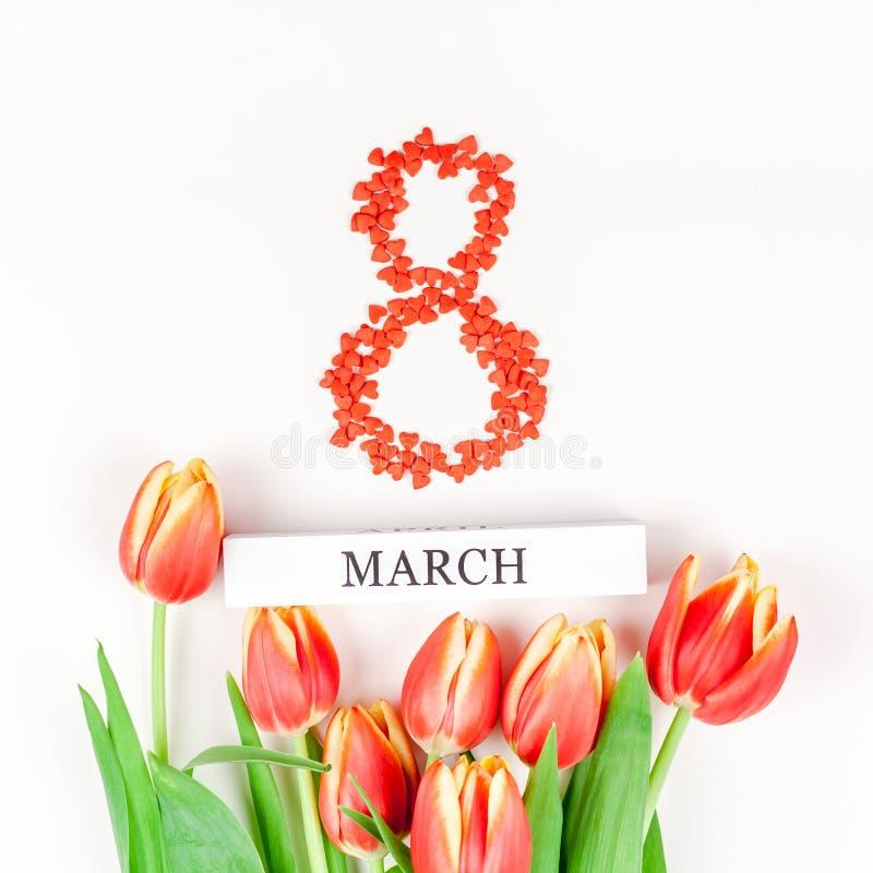 """8 marzo donne internazionali \ """"cartolina d'auguri di giorno di s immagini stock"""
