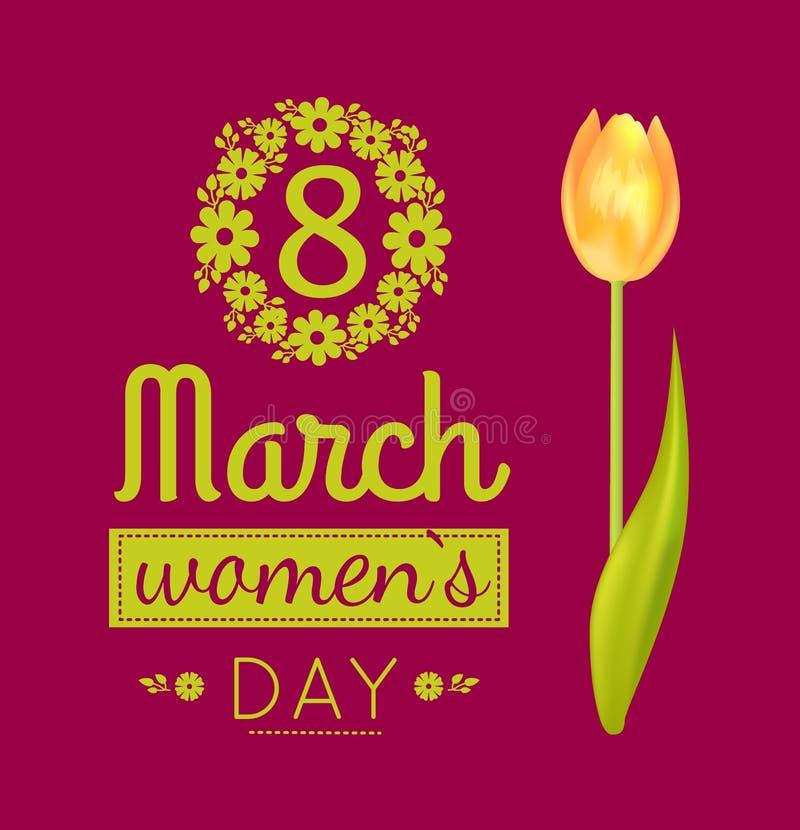 8 marzo illustrazione di vettore del giorno delle donne del manifesto royalty illustrazione gratis