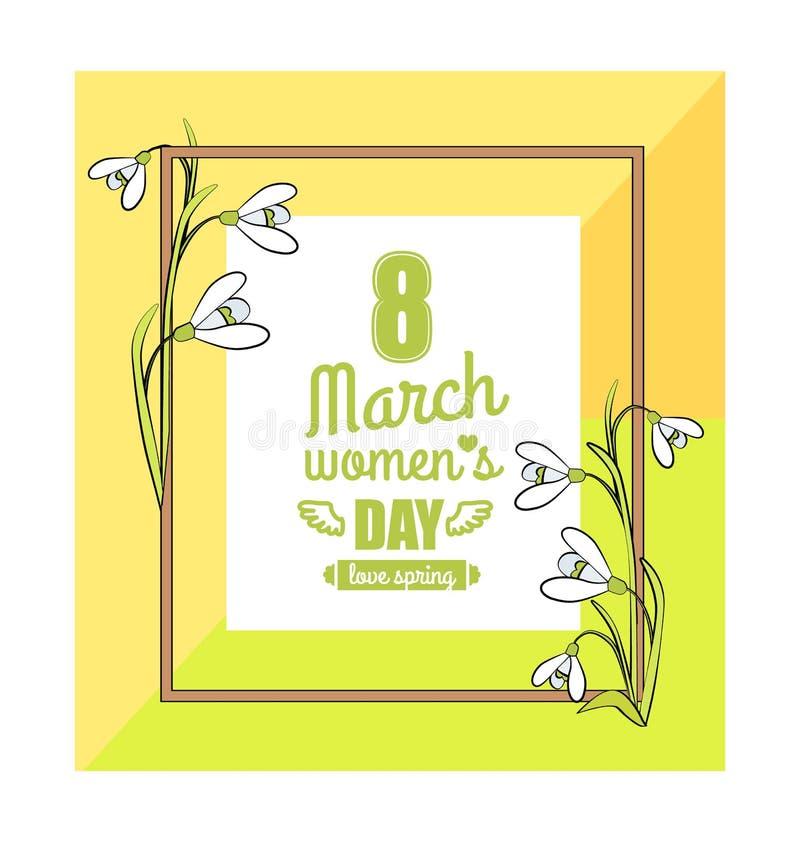 8 marzo illustrazione variopinta di vettore del giorno delle donne royalty illustrazione gratis