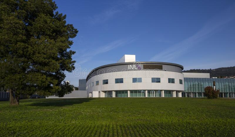 12 marzo 2020, INL International Nanotechnology Laboratory a Braga fotografia stock libera da diritti