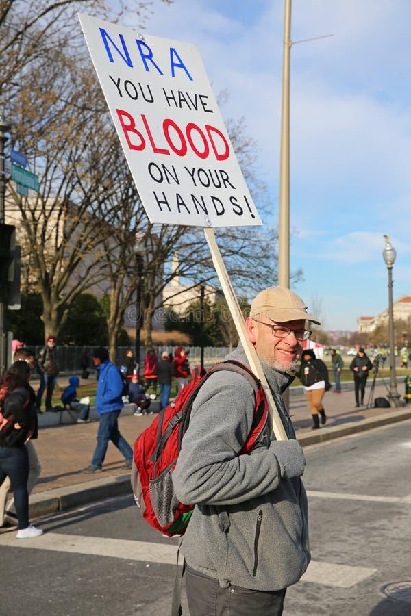 Marzo para nuestra protesta 32, Washington, D de las vidas C imagen de archivo libre de regalías